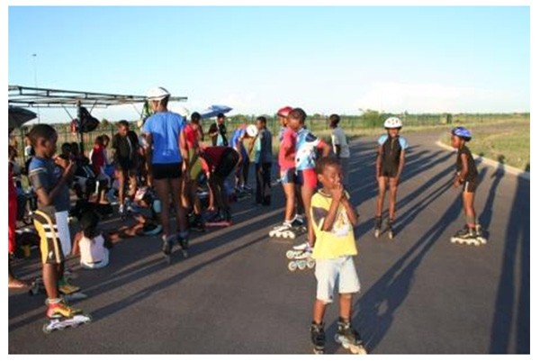 Coaching lessons were held also at the Mandela Village club and track of Pretoria.