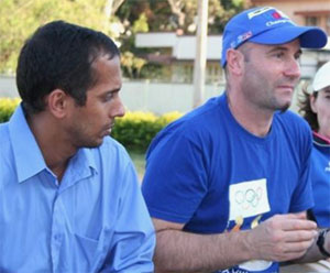 Christophe Audoire and the Indian Coach