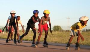 Mandela village 400 meters asphalt road circuit